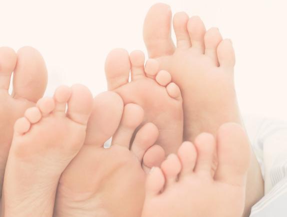Cuidando de los pies mas delicados.